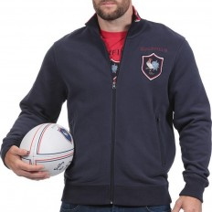 Sweat zippé French Rugby Club Ruckfield marine