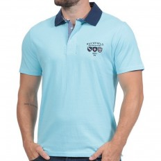 Polo homme manche courte We Are Rugby Ruckfield turquoise