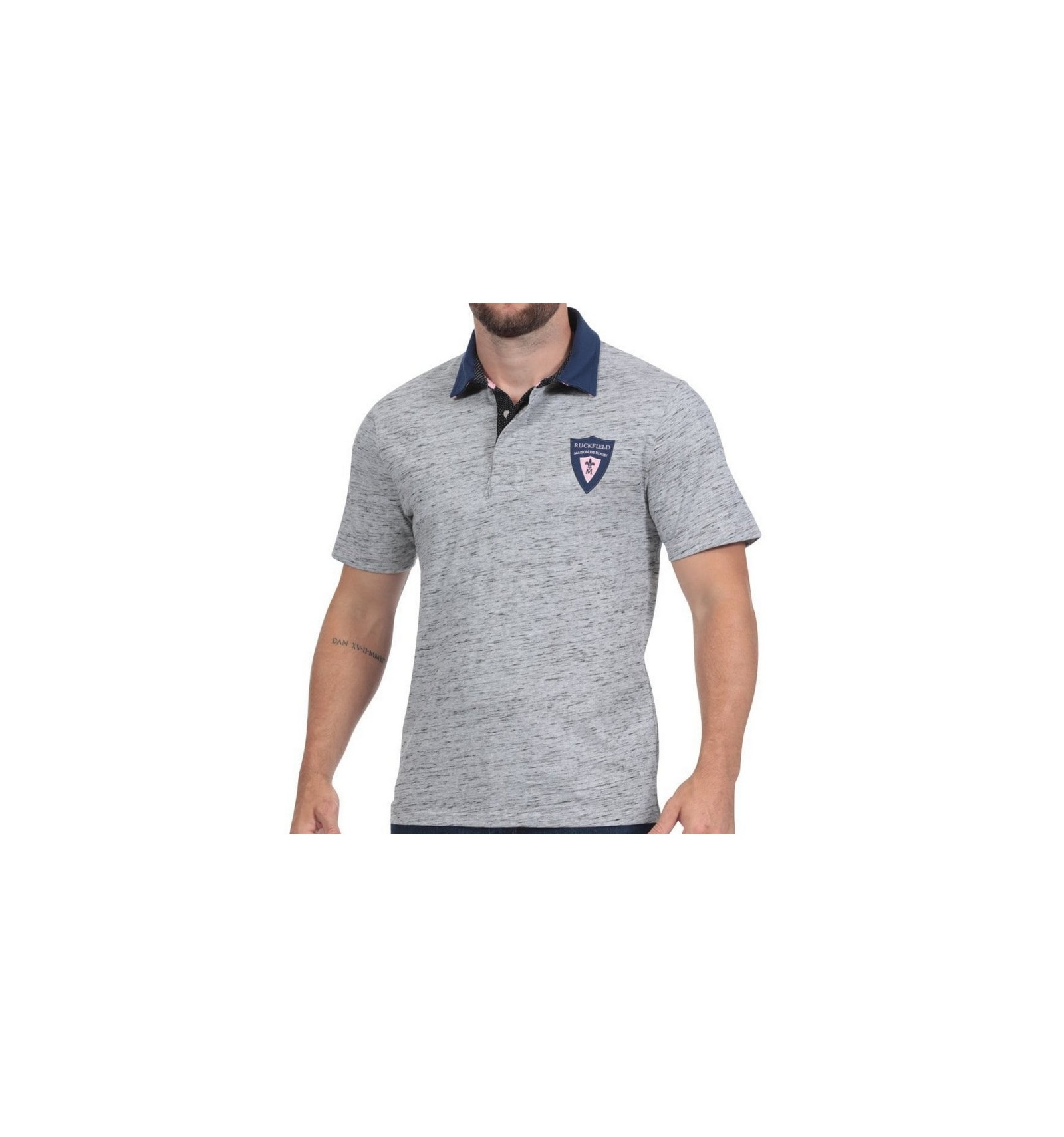 Ruckfield Polo Rugby Gris Chiné - Gris eaLyfL