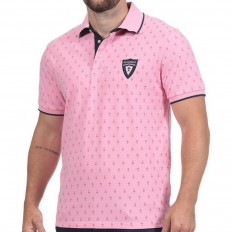 Polo homme Monogramme Maison de Rugby Ruckfield rose clair