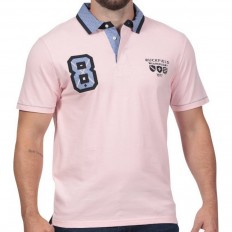 Polo homme N°8 We Are Rugby Ruckfield rose clair