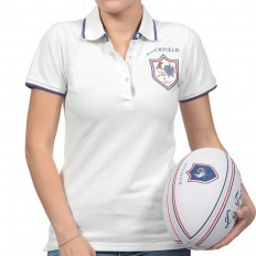 Polo femme French Rugby Club Ruckfield blanc