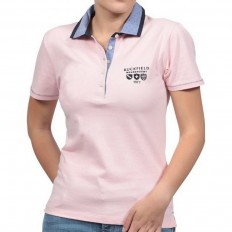 Polo femme We Are Rugby Ruckfield rose clair