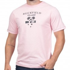Tee shirt homme manche courte Rugby Island Ruckfield rose