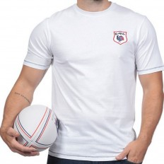 Tee shirt homme manche courte Le French Rugby Club Ruckfield blanc