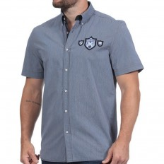 Chemise homme We Are Rugby manche courte Ruckfield bleu