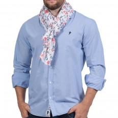 Chemise homme Rugby Liberty manche longue Ruckfield bleu clair