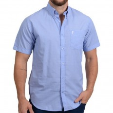 Chemise homme Rugby Liberty manche courte Ruckfield bleu ciel