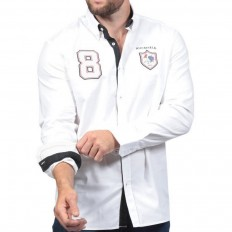 Chemise homme France French Rugby Club Ruckfield blanc
