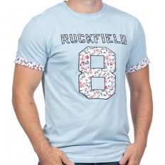 Tee shirt homme manche courte Rugby Liberty Ruckfield ciel