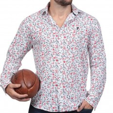 Chemise homme Florale Rugby Liberty Ruckfield blanc liberty