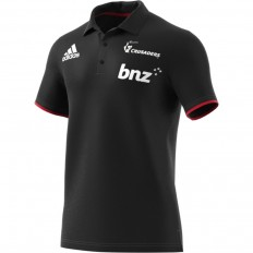Polo Crusaders Super Rugby 2018 Adidas noir rouge
