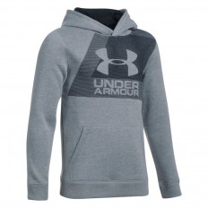 Sweat enfant UA Rival Fleece Under Armour gris acier noir