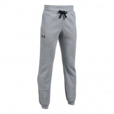 Pantalon enfant UA Rival Fleece Under Armour gris noir